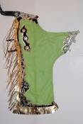 "40"" Green Apple Body, Black & White Hair, Gold Fringe  (TB107)"