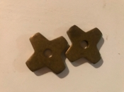 "1"" Brass 4 Point Bare Back Rowels FREE SHIPPING"