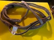 "Brazilian Qualifier Bull Rope. Left Hand 9 Plait 3/4"" Full Lace"