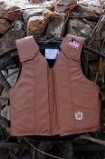 Ride Right Custom Color Brown Leather Vest