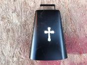 Large Black Bells w/ Cross
