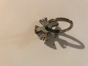 "1 1/4"" Jerome Davis design Bull Rowel Key Ring FREE SHIPPING"